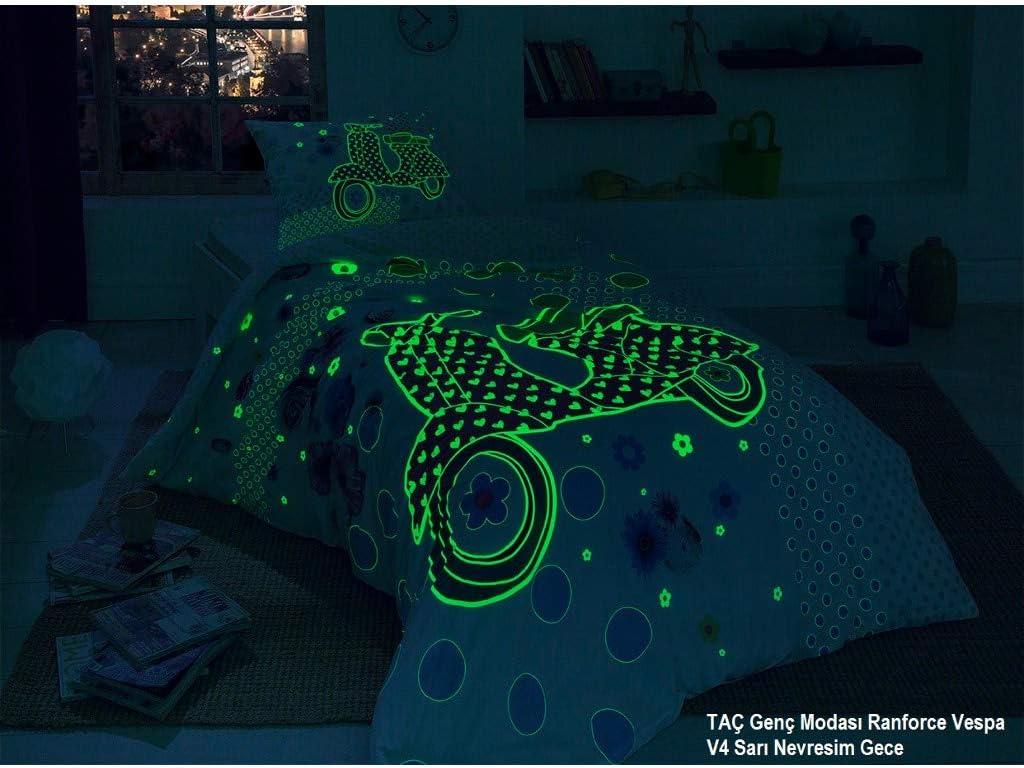 Tac 100 Cotton Luminous Design Single Double Duvet Cover Set Vespa Küche Haushalt