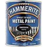 Hammerite HAM6722001 250ml Metal Paint - Smooth Black