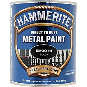 Hammerite 5092966 750ml Direct To Rust Metal Paint Smooth - Black