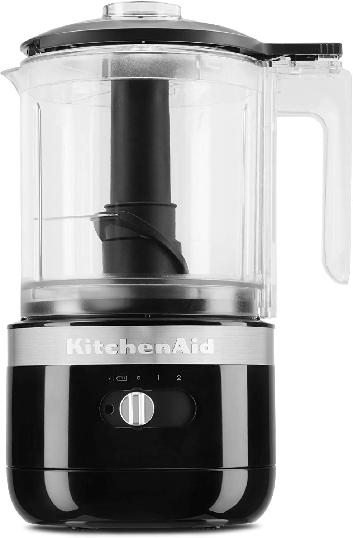 KitchenAid KFCB519OB Cordless Chopper, 5 cup, Onyx Black