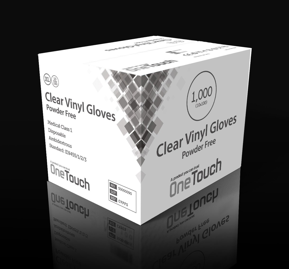 Clear Vinyl, Small 1000 x Powder Free Clear Vinyl Blue Vinyl Examination Gloves Latex Free Multi-purpose Gloves