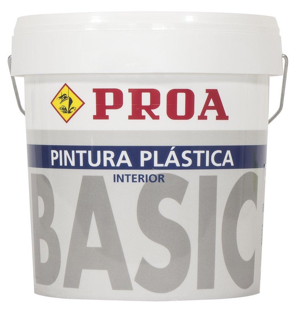 Proa. Pintura plá stica interior mate BASIC., Blanco. 15 L Industrias Proa P3100R