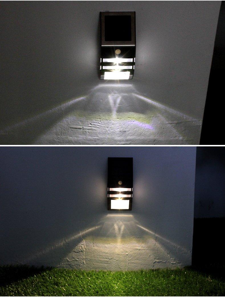 PIR Sensor Stainless Steel Solar Motion Sensor Light Outdoor - Solar Powered Led ,Intelligent Energy-saving Weatherproof