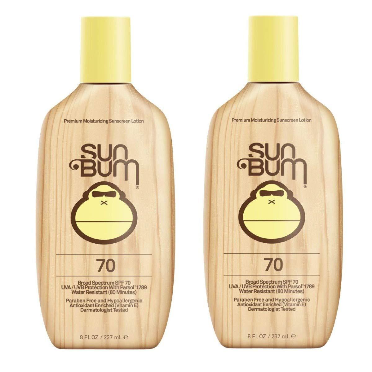 Sun Bum Original Moisturizing Sunscreen Lotion, Broad Spectrum UVA, UVB Protection, Hypoallergenic, Paraben Free, Gluten Free, 8 ounce, 2 Count