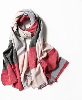 GCCI Fashion Warm Scarves Fall and Winter Imitation Cashmere Plaid Scarf Ladies Knit Shawl