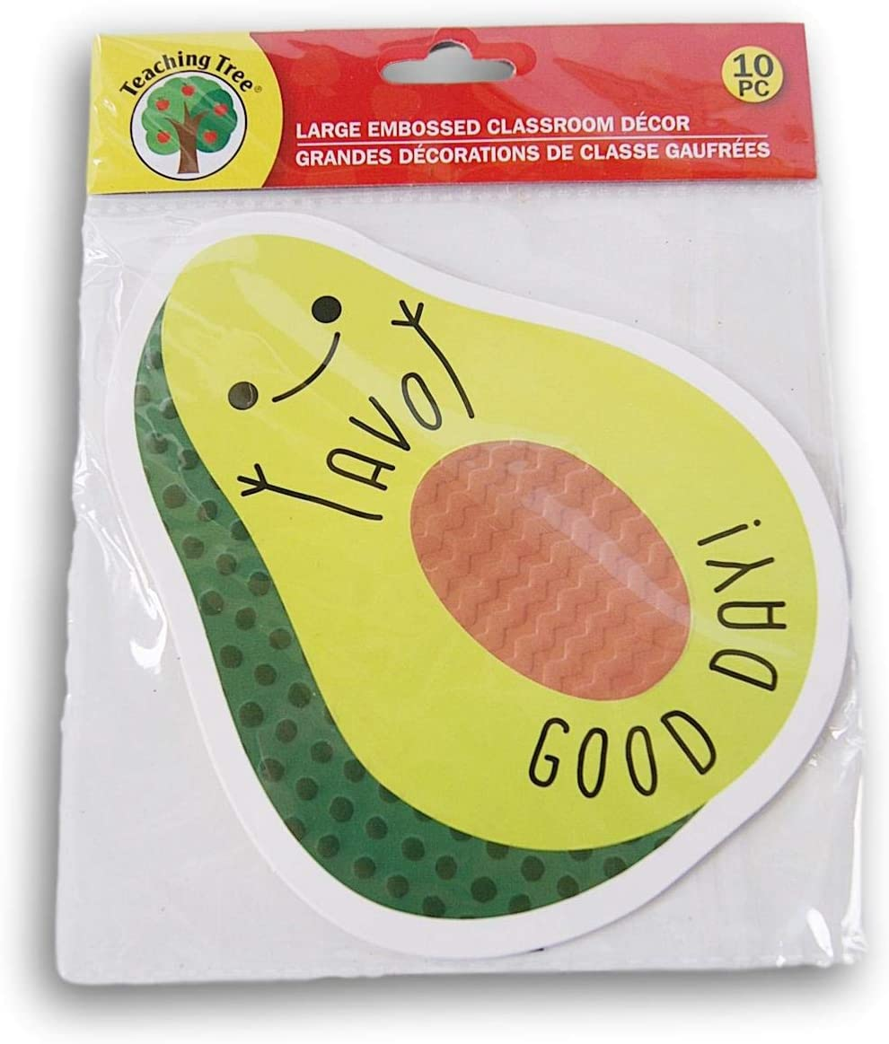 Avocado AVO Good Day! Classroom Decor Embossed Paper Cut-Outs 10 Count