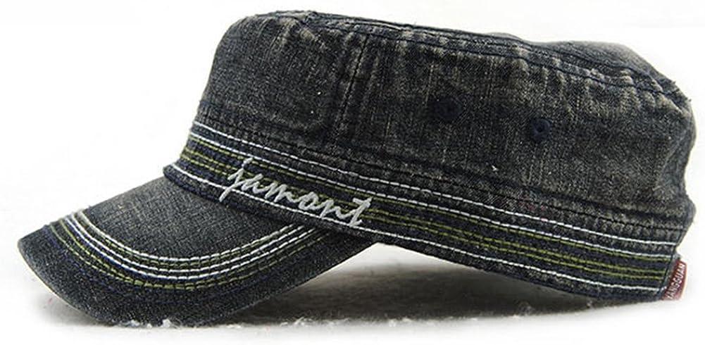 Roffatide Unisex Cotone Flat Berretto da Baseball Classico Military Cappello di Sole con Visiera