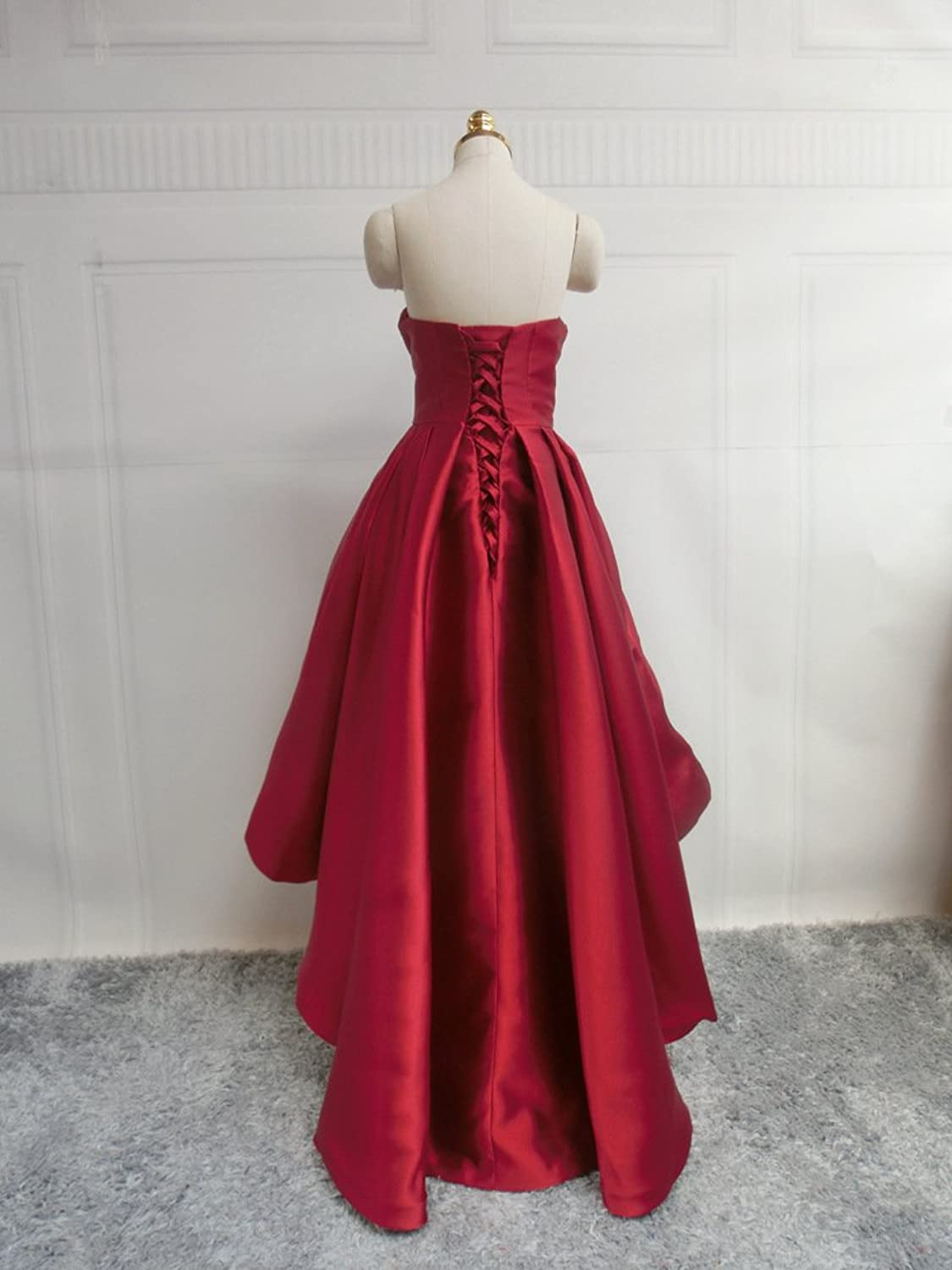 Amazon.com: Sweetheart Neckline Short and Long Puffy Skirt Prom Dresses: Clothing