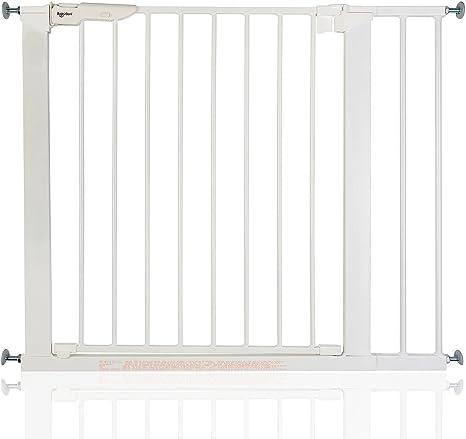 BabyDan Premier - Bebé Puerta de la Escalera Barrera de Seguridad Blanco, 86-93,3cm: Amazon.es: Bebé