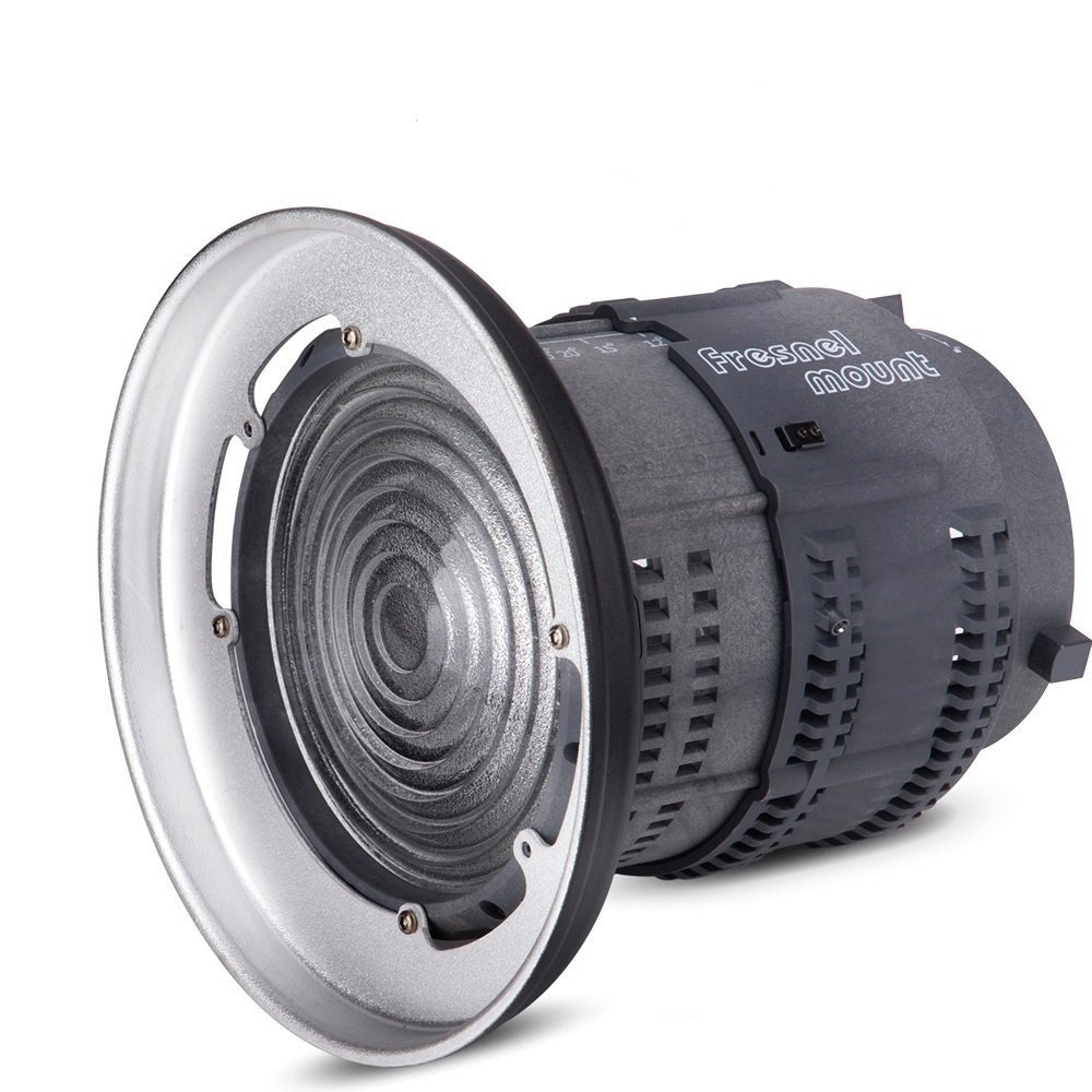 Aputure Fresnel Lens for Aputure Light Storm COB 120T 120D and other Bowen-S Mount Lights,with 12°-42° beam angle 14000lux@0.5M to 67000lux@0.5M Adjustable