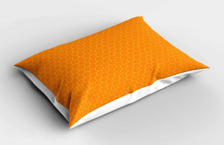 Naranja y Amarillo de la Tierra con Estampa Digital Decorativa en Tela F/ácil de Lavar Ronda de la Rebanada de los agrios ABAKUHAUS Pomelo Funda de Almohada 65 X 50 cm