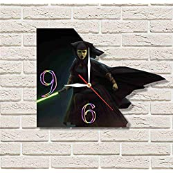 FBA STAR WARS - LUMINARA UNDULI 11.8'' Handmade Wall Clock - Get unique décor for home or office – Best gift ideas for kids, friends, parents and your soul mates