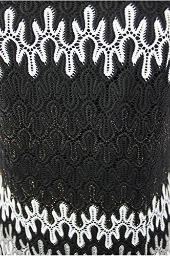 Kleid Metall LANGE Collection HERMANN Mehrfarbig Yva1fqO7