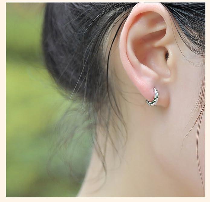 44c41ba6f04f Demarkt Acero inoxidable aros para mujer para hombre del oído del perno  prisionero de Huggie pendientes establecidas  Amazon.es  Joyería