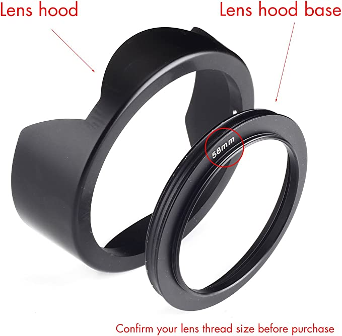 + Stepping Ring 43-52mm Nw Direct Microfiber Cleaning Cloth. 43mm Flower Design for Samsung NX3300 Lens Hood
