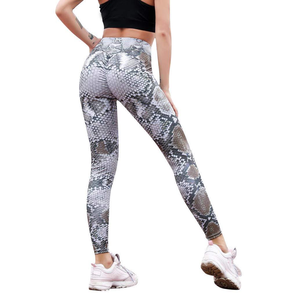 Makeupstory Womens Capri Leggings, Workout Leggings Women,Serpentine High Waist Leggings Serpentine Women Yoga Pants Mesh Leather Leggins by Makeupstory (Image #1)