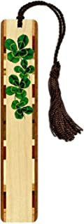 product image for 4 Leaf Clover, Wooden Bookmark with Tassel - Search B079H566Q9 for Personalized Version