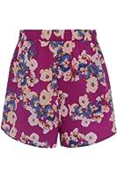 Neon Rose - Purple Floral Print Shorts