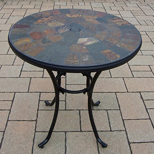 oakland living stone art bistro table 26inch