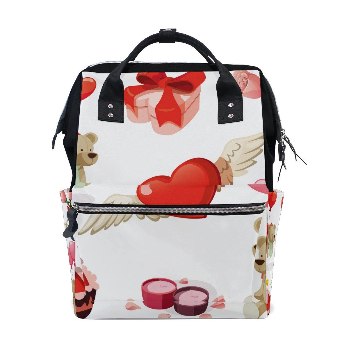 Backpack School Bag Wedding Heart Bear Rose Canvas Travel Doctor Style Daypack