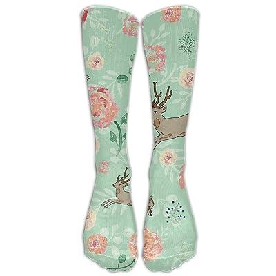 High Boots Crew Jumping Deer Compression Socks Comfortable Long Dress For Men Women