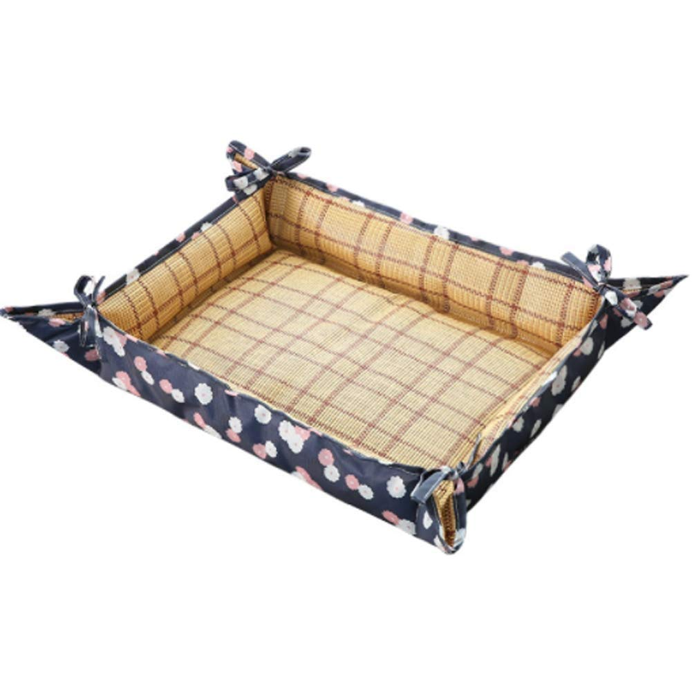 A Large A Large ZAIHW Rectangle Dog Bed Lounger for Dogs & Cats with Self Cooling Cozy Inner Ice Cushion (color   A, Size   L)