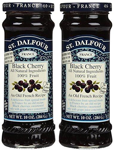 St. Dalfour Black Cherry Conserves - 10 oz - 2 pk (Cherry Fresh Jam)