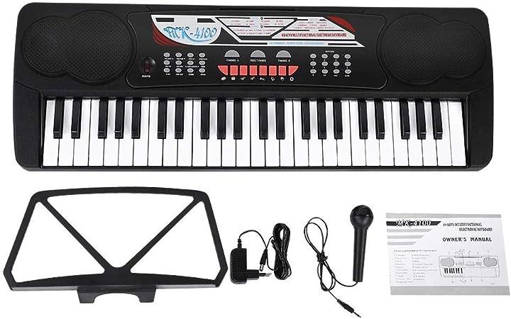 RiToEasysports Piano eléctrico, 49 Teclado eléctrico Digital ...