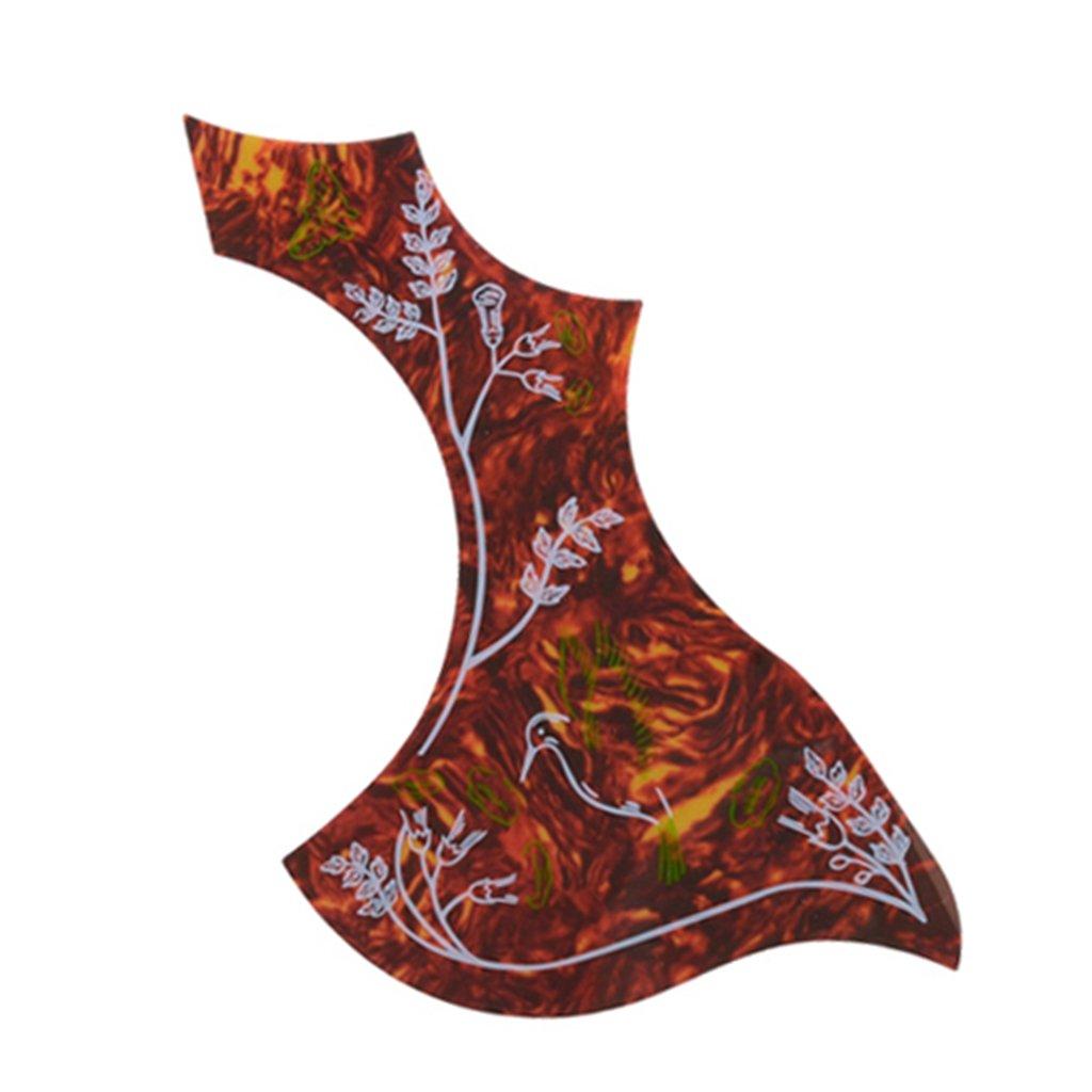 come descritto Rosso B Baosity Placca Adesiva Per Battipenna Adesiva Per Chitarra Acustica