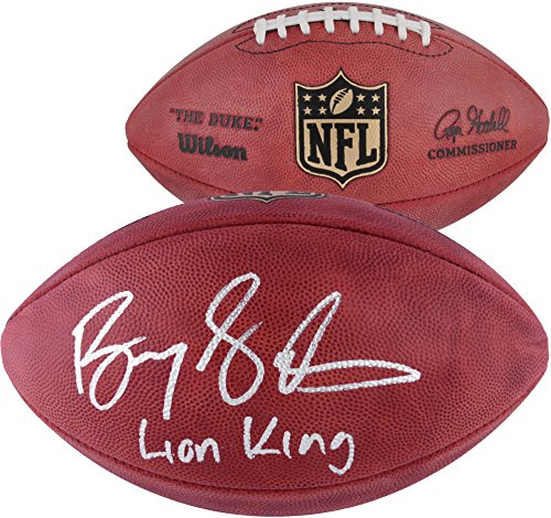 Barry Sanders Detroit Lions Autographed Duke Pro Football with Lion King Inscription - Fanatics Authentic Certified