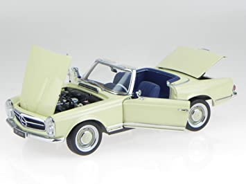 Mercedes 230 sl w113 pagode 1963 antracita metalizado coche modelo 1:18 norev