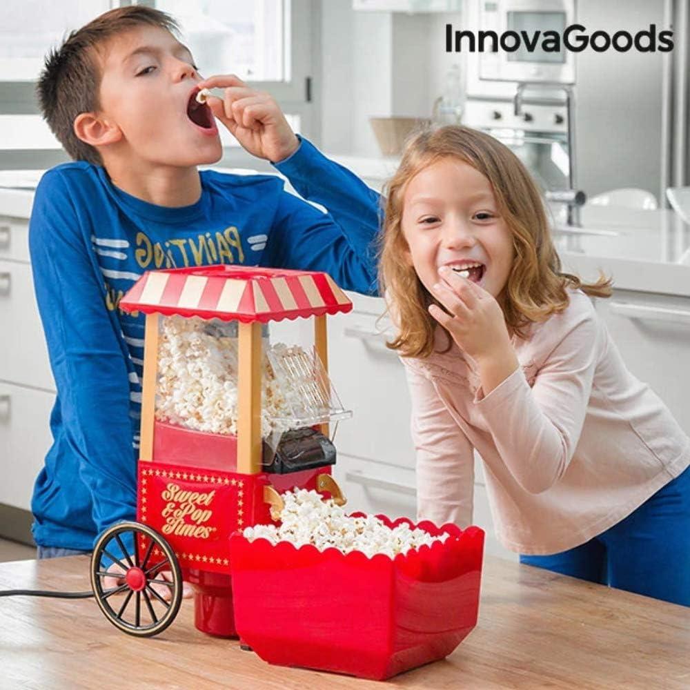 InnovaGoods IG114772 Palomitera, 1200 W, Rojo