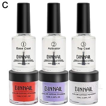 Amazon.com : BINNAIL 6 Piece per Set Dip Powder for Dipping Nails ...