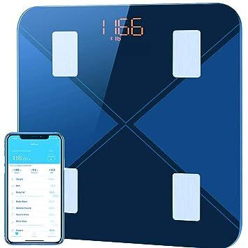 Mpow - Báscula digital de baño con Bluetooth para ...
