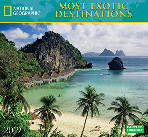 National Geographic Most Exotic Destinations 2019 Wall Calendar