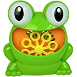 HOMYL Portable Cute Frog Automatic Bubble Machine Blower Maker Children Summer Outdoor Camping Toy Play Fun