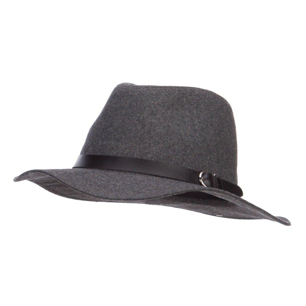 ba16b05caef3a PU Buckle Band Panama Hat - Grey OSFM at Amazon Men s Clothing store