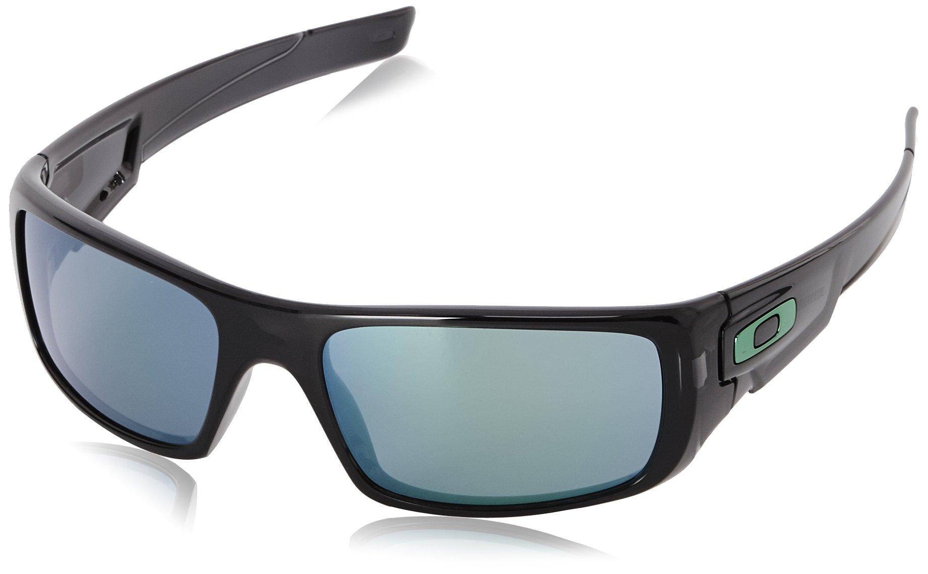 Oakley Mens Crankshaft Sunglasses, Black Ink/Jade Iridium, One Size