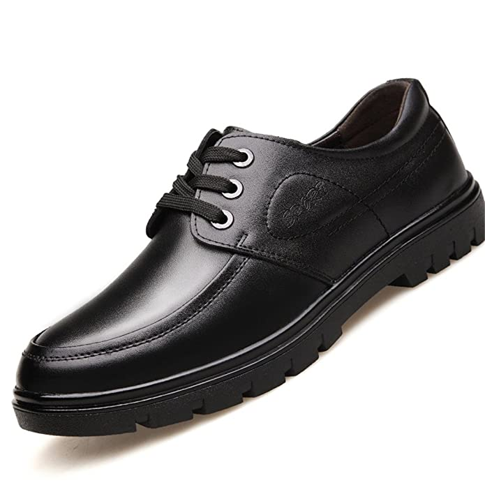 Shoes Men's Shoes Leather Spring Summer Fall Comfort Formal Shoes Lace-up For Casual Black (Color : Brown Size : 39)