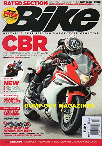 (Bike UK May 2011 BRITAIN'S BEST SELLING MOTORCYCLE MAGAZINE Your Essential Guide To the Best Bikes & Tyres + DOING SOMETHING DANGEROUS ABROAD Change Your Life: Give It All Up For Motorcycles)