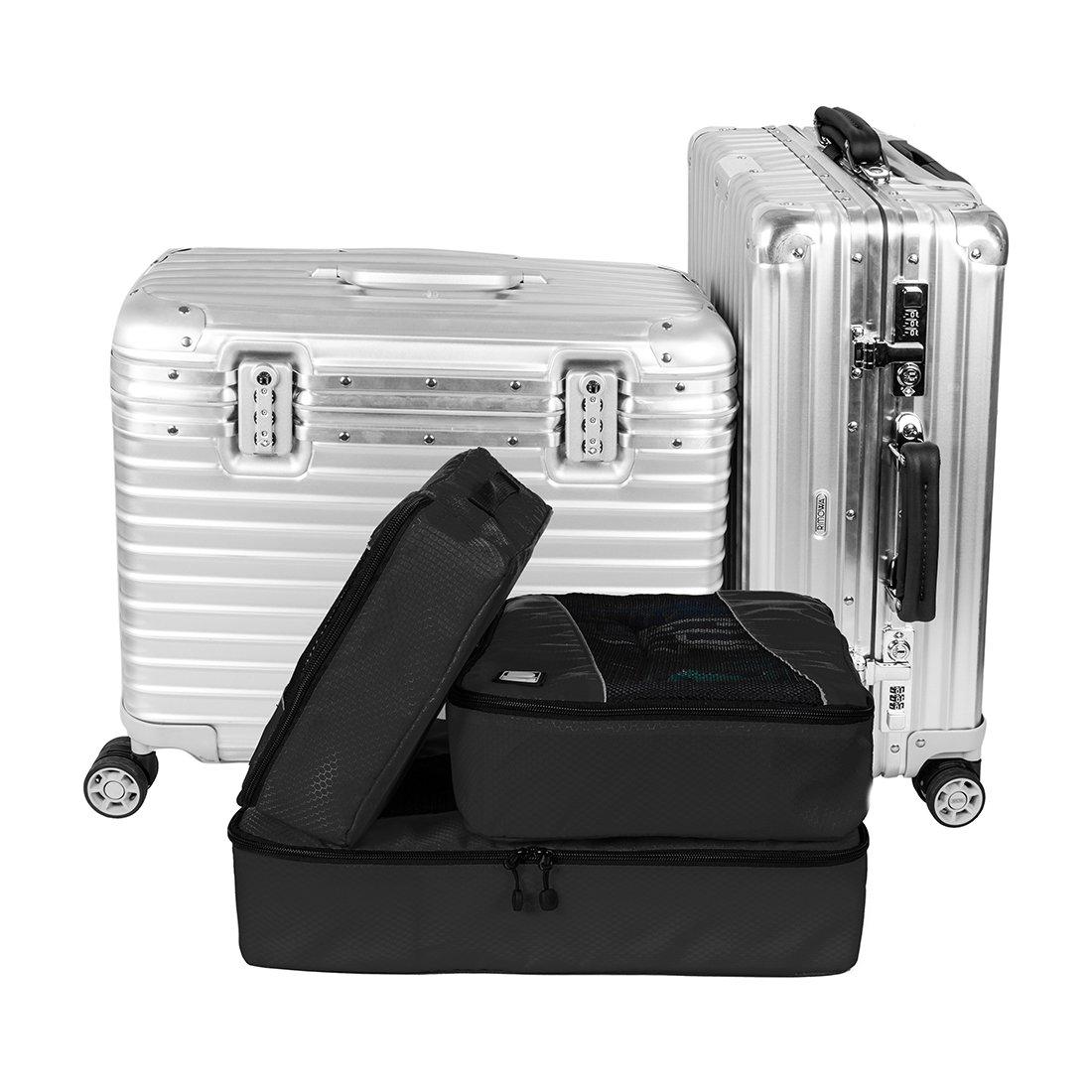 Packing Cubes Travel Luggage Suitcase Organizer Closet Storage 3 Set  Small Large