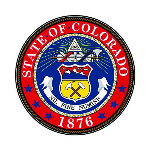 Colorado State Seal Vinyl Decals Bumper Stickers United States