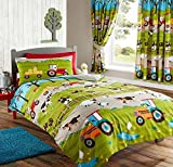 Kids Club FARM YARD ANIMAL PIG DOG COW SHEEP TRACTOR DOUBLE DUVET QUILT COVER BEDDING SET