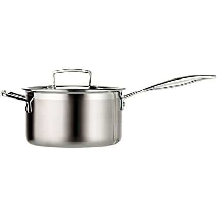 Le Creuset Tri-Ply Stainless Steel 2-Quart Covered Saucepan