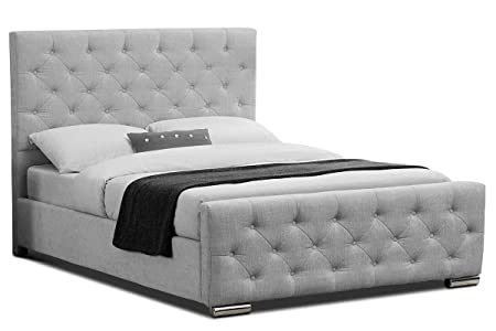 Letto Imbottito King Size.Sleep Design Buckingham Cornice In Tessuto Imbottito Per Letto