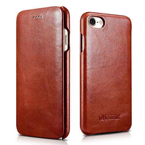 Icarercase Vintage Opening Leather Magnetic Noticeable