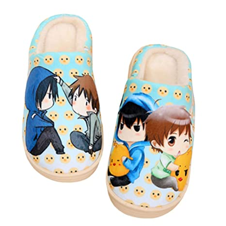 Cotton Slippers Anime Cartoon Character Plush Memory Foam Lightweight Shoes Keep Warm Anti-Slip Cozy