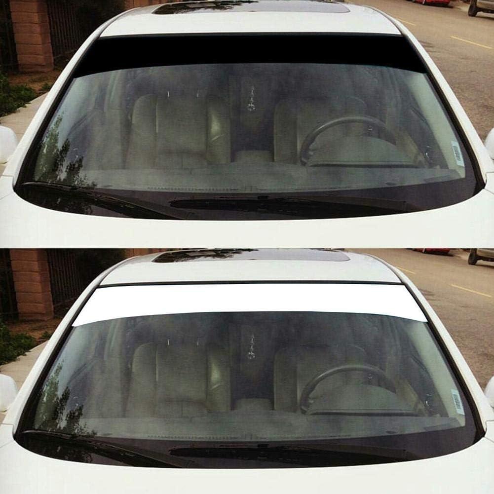 6 x 60 Vinyl Windshield Banner Strip Car Sun Window Visor Stickers Blank Windshield Banner Sun Strip Decal Sticker Racing Stripe /& Decals