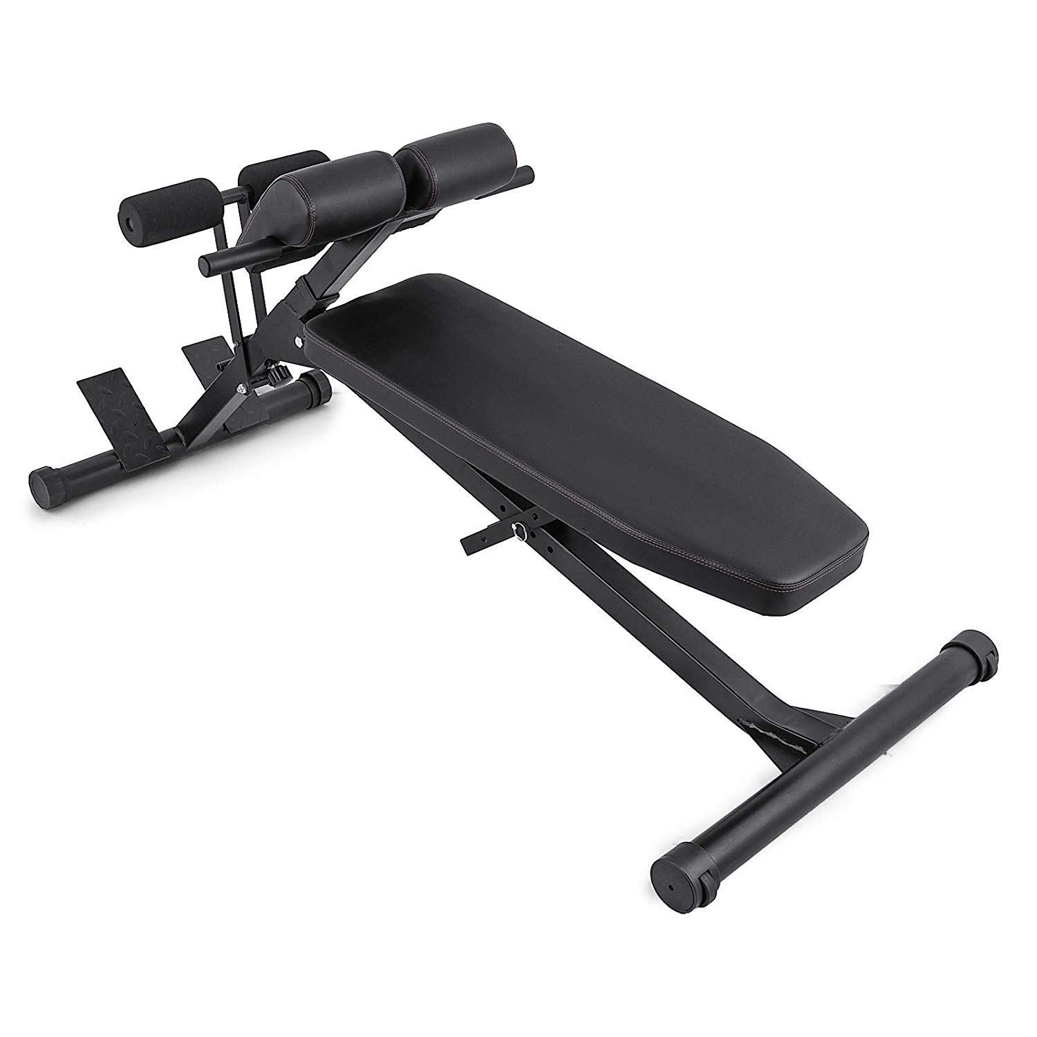 Popsport 660LBS Extension Bench Multi-Workout Back Extension Bench Adjustable Fitness Abdominal Hyper Bench Sit Up Bench for Commercial and Home use