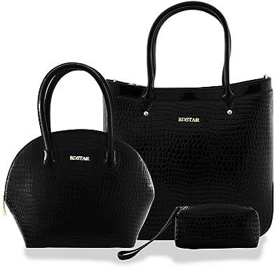 Hi-Gloss Detail Designer Faux Leather Large Tote Handbag Shoulder Bag - Navy Kukubird okFy6ZUNm